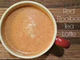 red rooibos tea latte