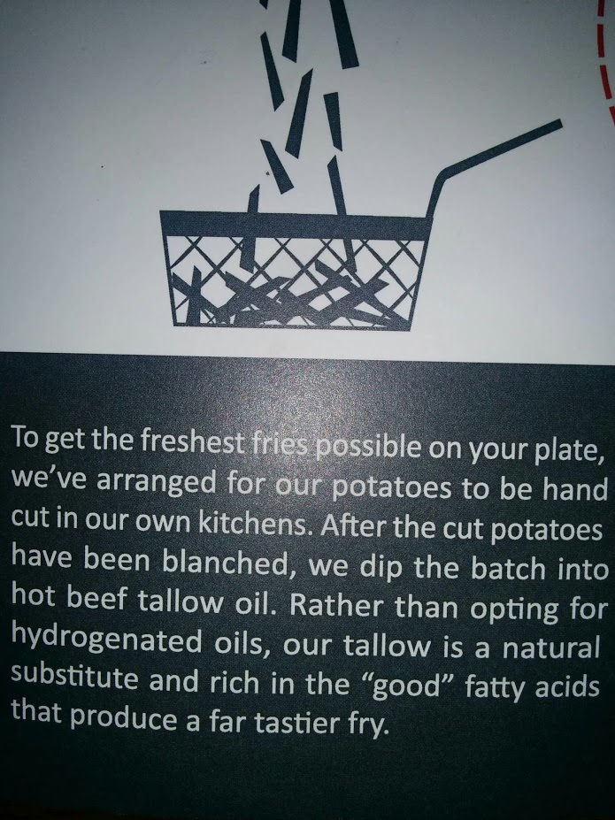 burger monger blanches fries to minimize acrylamides!