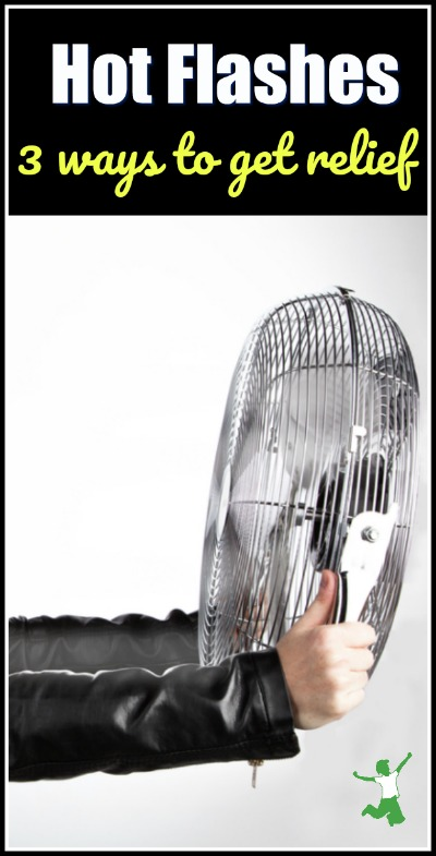 overheated woman with a fan