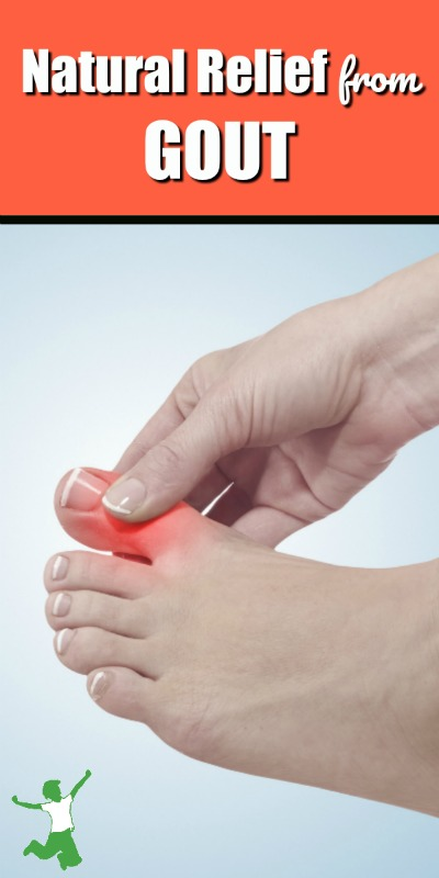 painful gout flare-up in a woman's toe