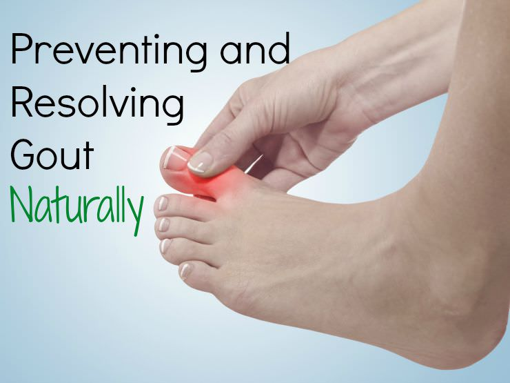 resolving gout causes naturally