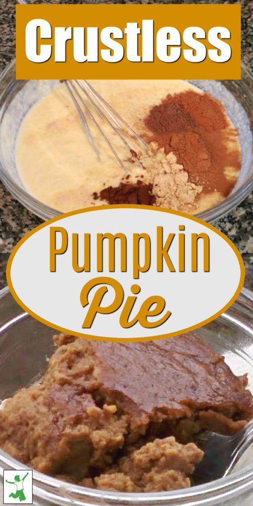 crustless pumpkin pie pudding