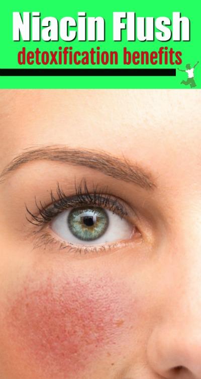 woman with a beneficial vitamin B3 facial flush