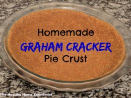 Traditional Graham Cracker Pie Crust Recipe