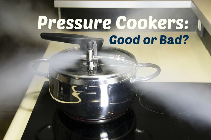 pressure cooker on the stove