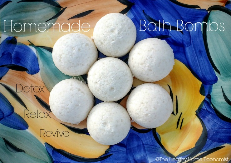 bath bombs on a platter