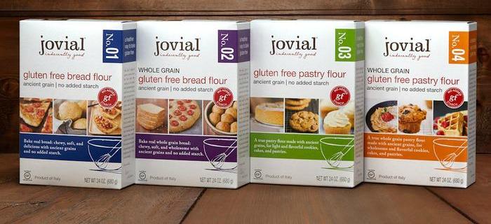 Four boxes of gluten free flour mix