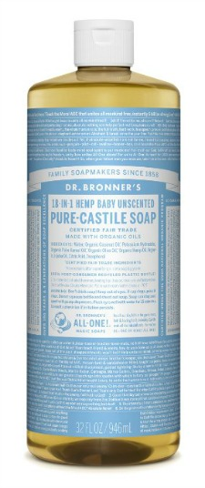 bottle of baby castile soap