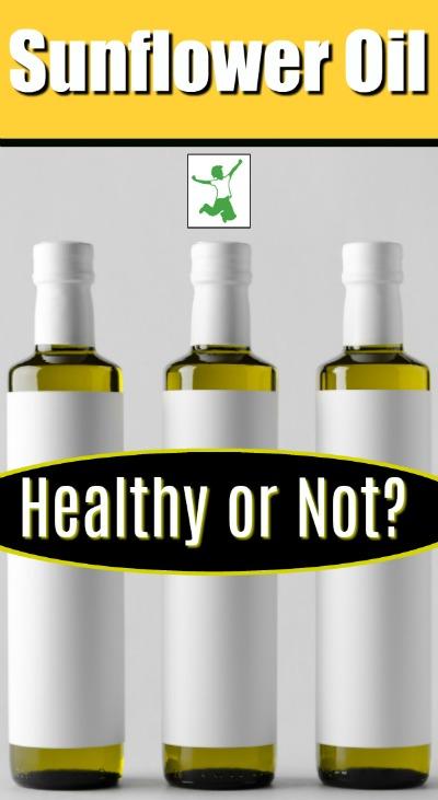unrefined sunflower oil in glass bottles