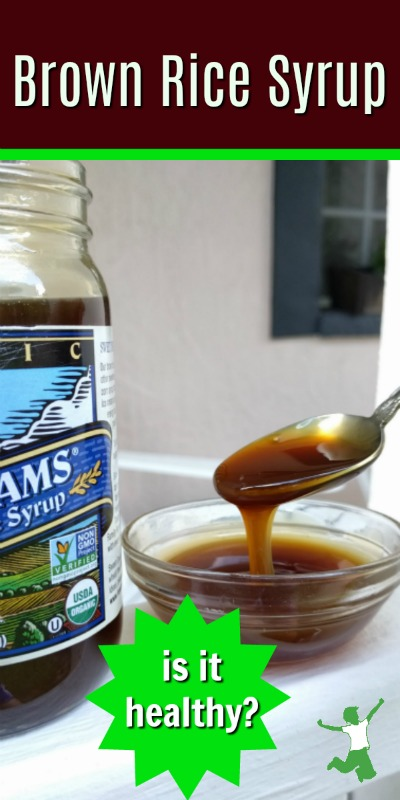 jar of brown rice syrup on a table