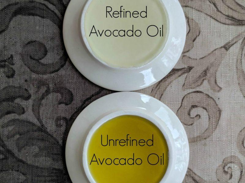 unrefined vs refined avocado oil