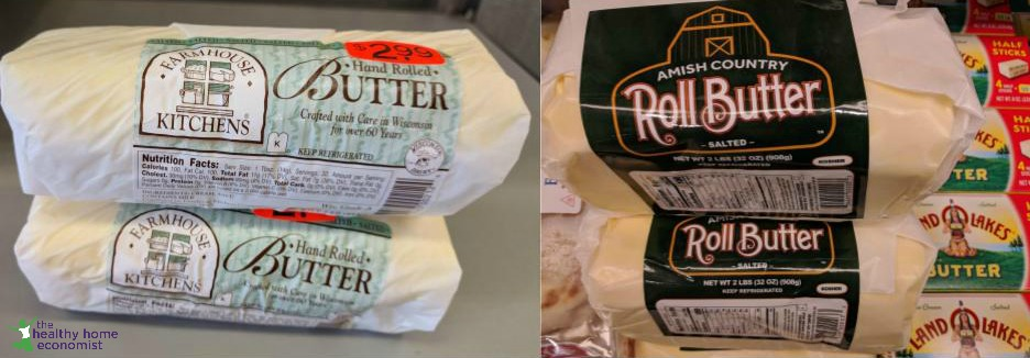 amish rolled butter