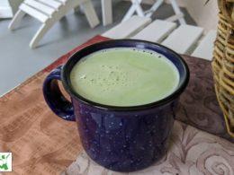 creamy matcha latte