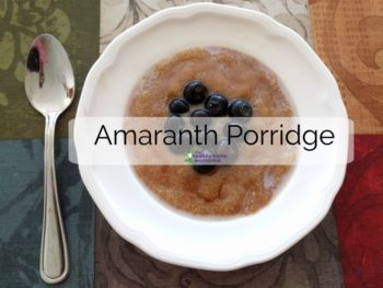 Amaranth Breakfast Porridge