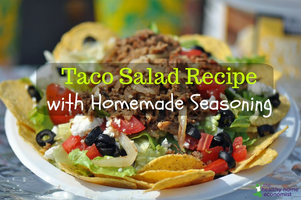 taco salad recipe, homemade taco seasoning