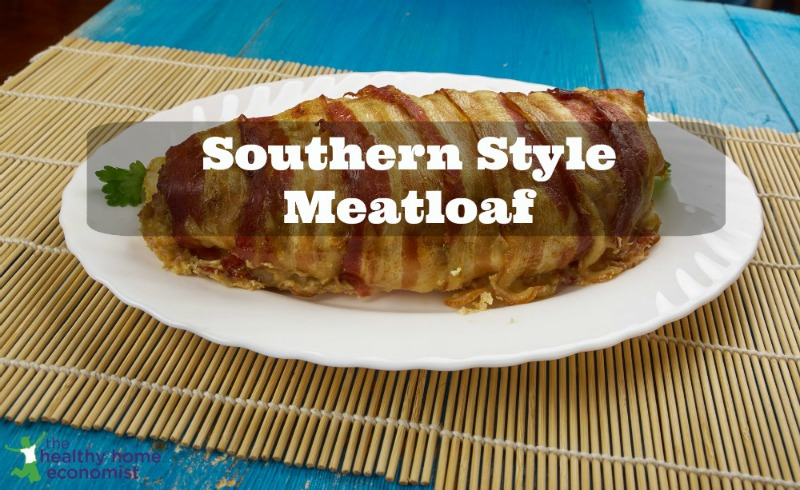 classic meatloaf on a platter