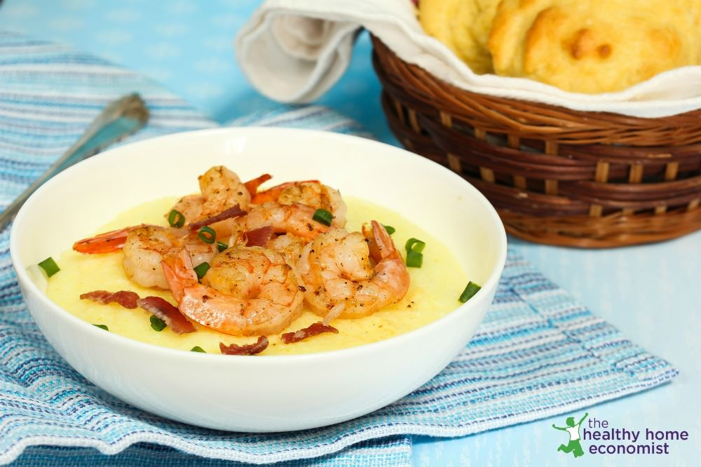 shrimp and grits grain free