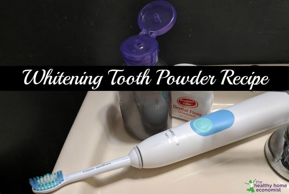 Homemade Tooth Powder Recipe (whitening
