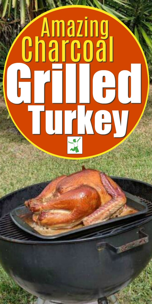 charcoal grilling a turkey