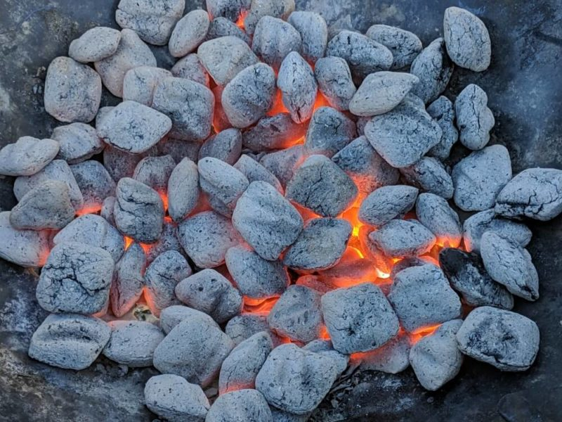 perfect coals for grilling turkey
