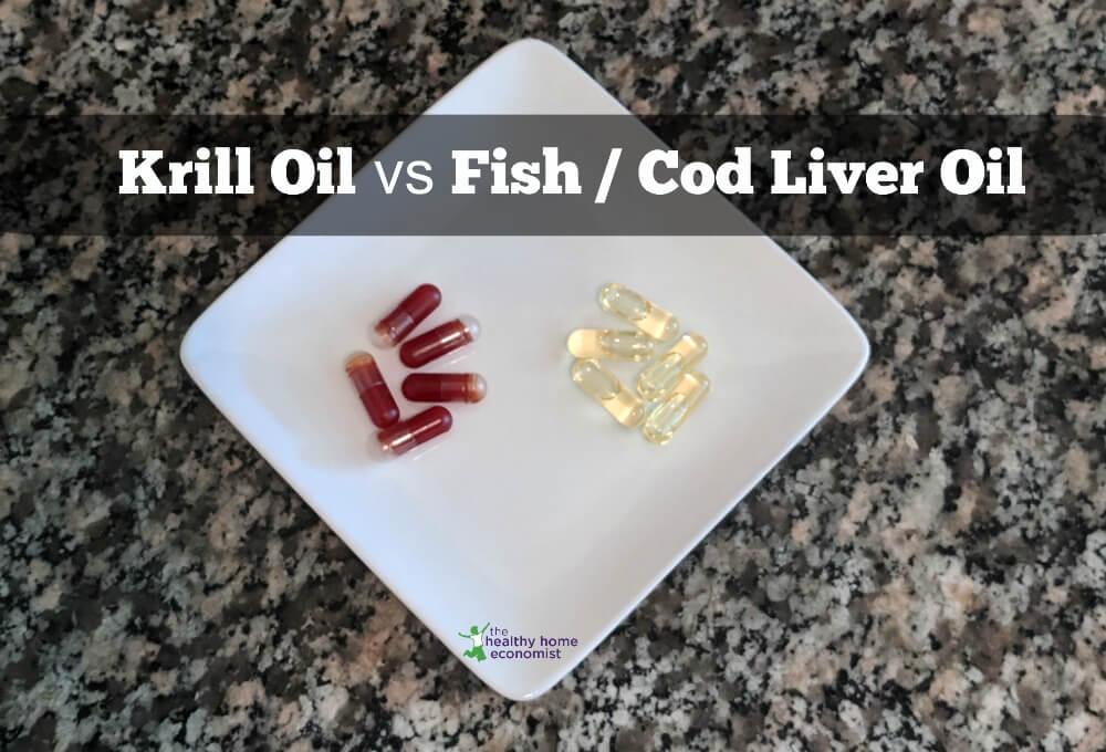 krill oil and cod liver oil