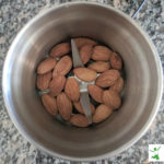 whole almonds in coffee grinder