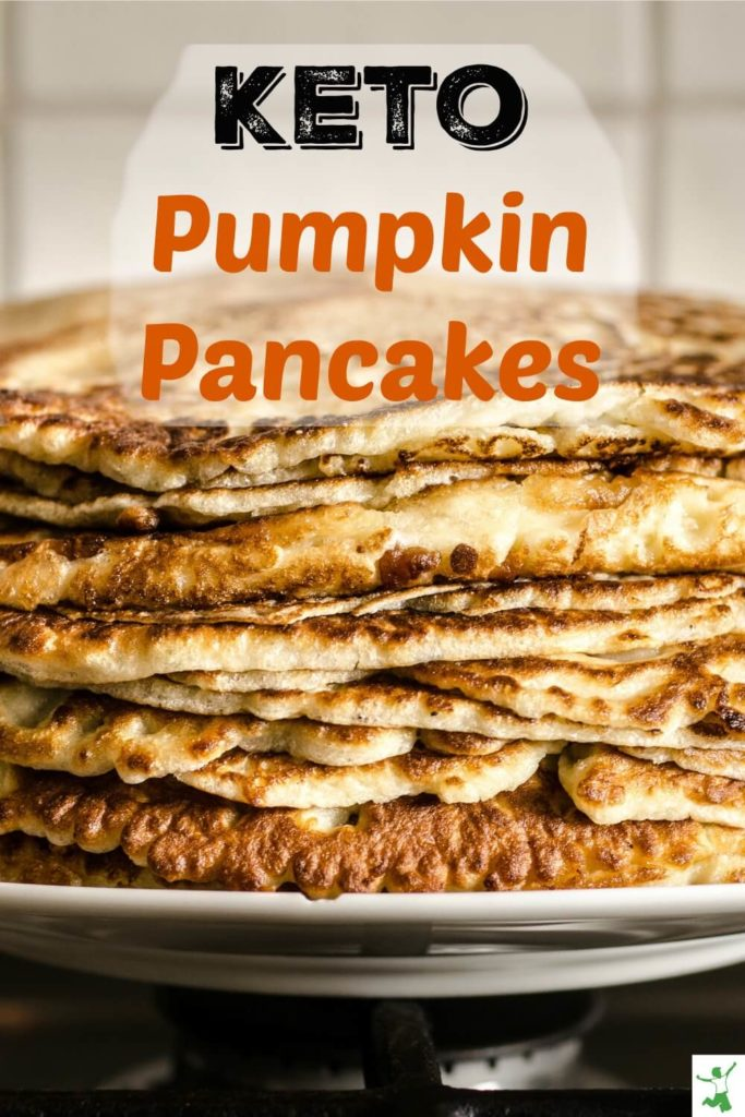 low carb pumpkin pancakes on a platter