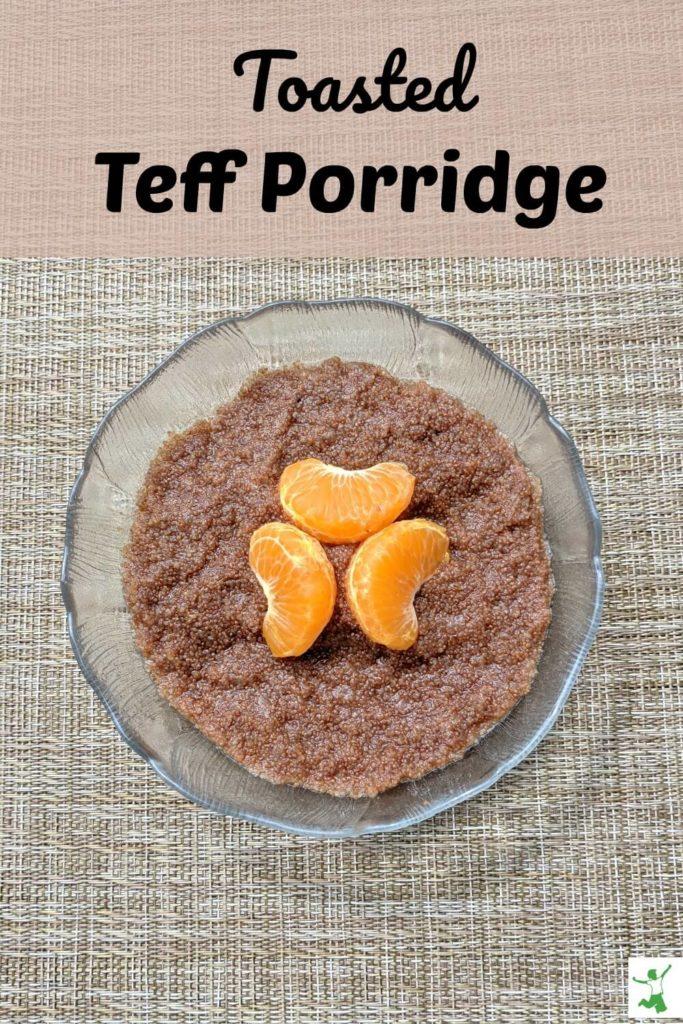 teff porridge in a bowl