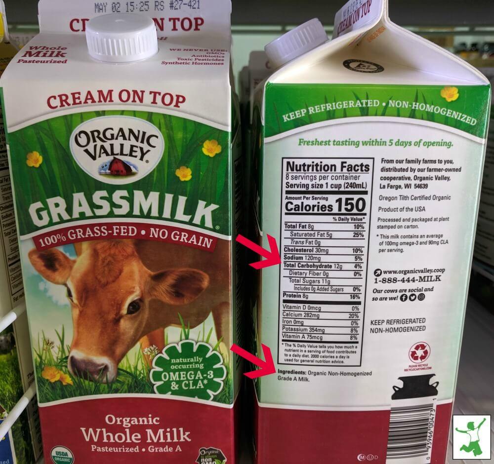 lactose free vs regular milk