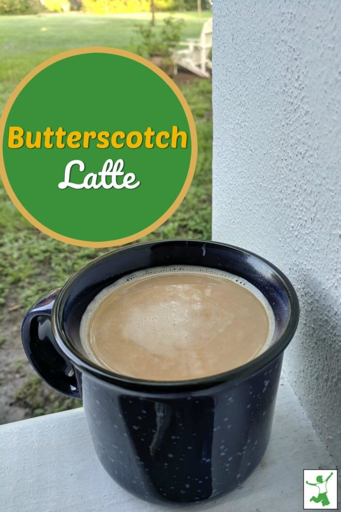 homemade butterscotch latte
