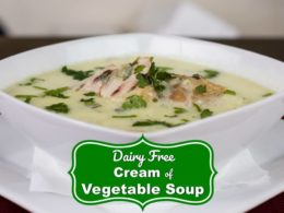 Cream of Vegetable Soup (dairy-free) 1