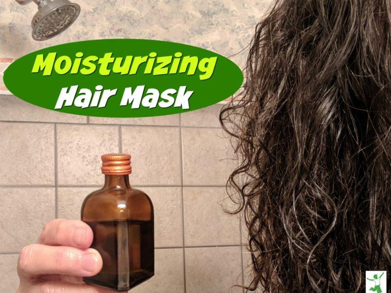 homemade hair mask in a bottle