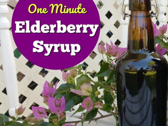 One Minute, No Cook Elderberry Syrup