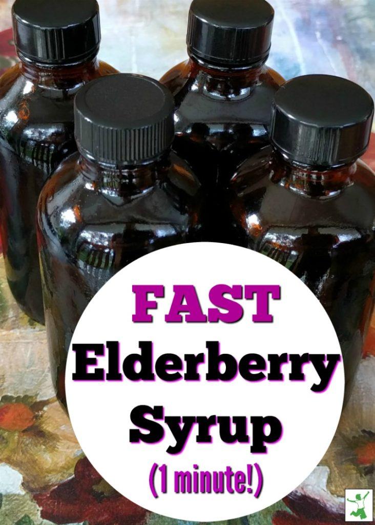 fast DIY elderberry syrup