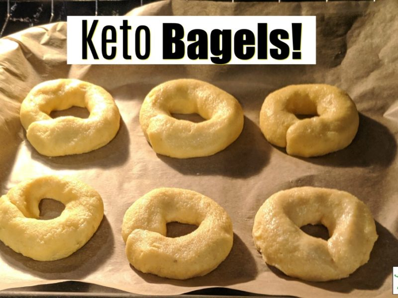 keto bagels on a cookie sheet