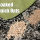 quick oats vs soaked on the counter