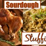 Sourdough Stuffing in a dish