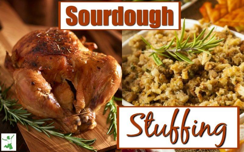 Sourdough Stuffing in a dish