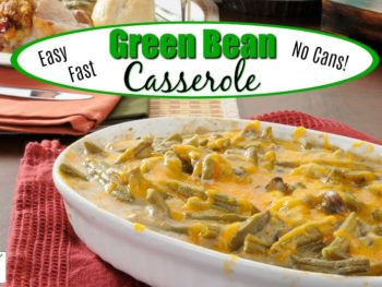 healthy green bean casserole on a table