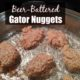 gator nuggets in a pan