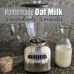 homemade oat milk ingredients