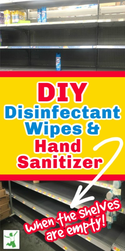 DIY hand sanitizer and wipes