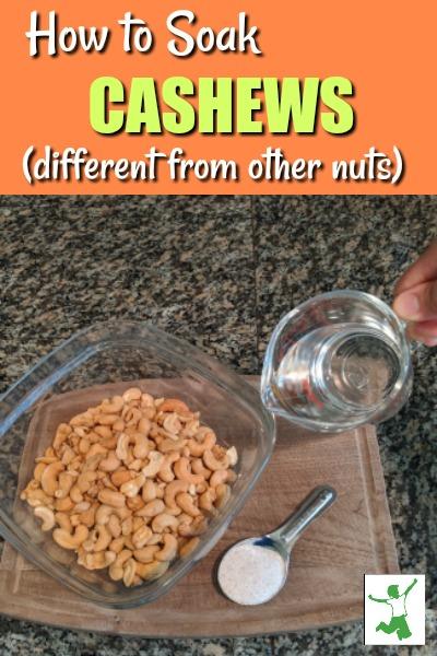 how to soak cashews