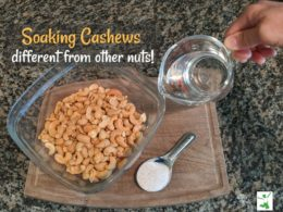 soaked cashews