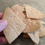 tortillas cut into bite sized chips