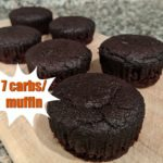 keto chocolate muffins on a cutting board