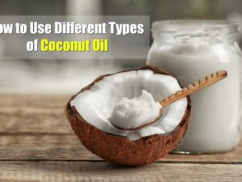 fresh pressed raw coconut oil on a wooden table