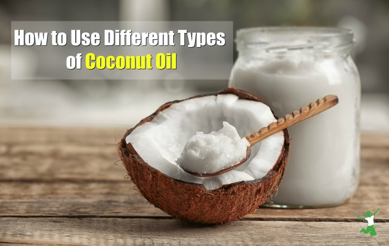 fresh pressed virgin coconut oil on a wooden table