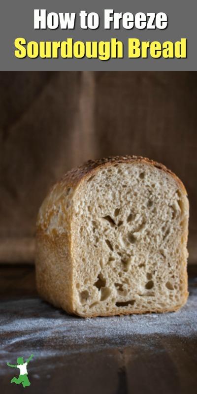 Half a sourdough loaf on a table