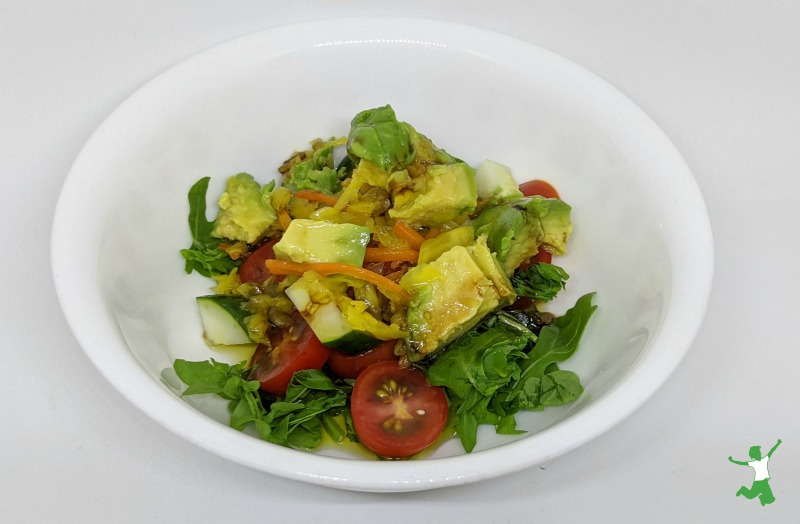 arugula, sauerkraut and avocado salad